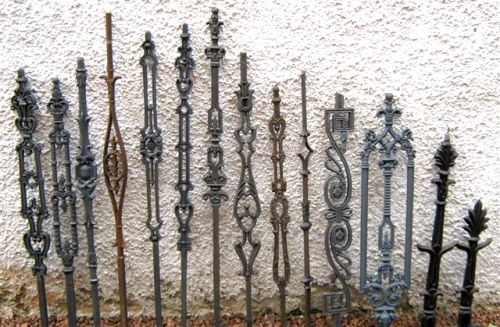 Cast iron railings and balusters